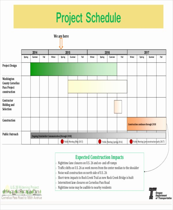Construction Project Schedule Template Fresh 15 Construction Schedule Templates Free Sample Example