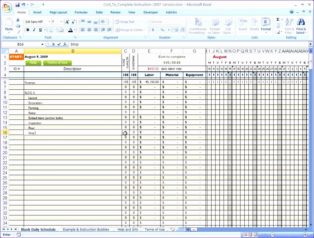Construction Schedule Excel Template Free Beautiful 10 Construction Project Schedule Template Excel Free