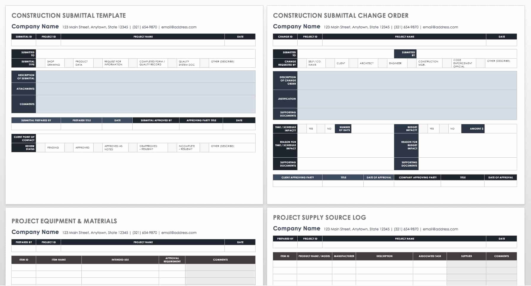 Construction Submittal Schedule Template Luxury How to Manage Construction Submittals