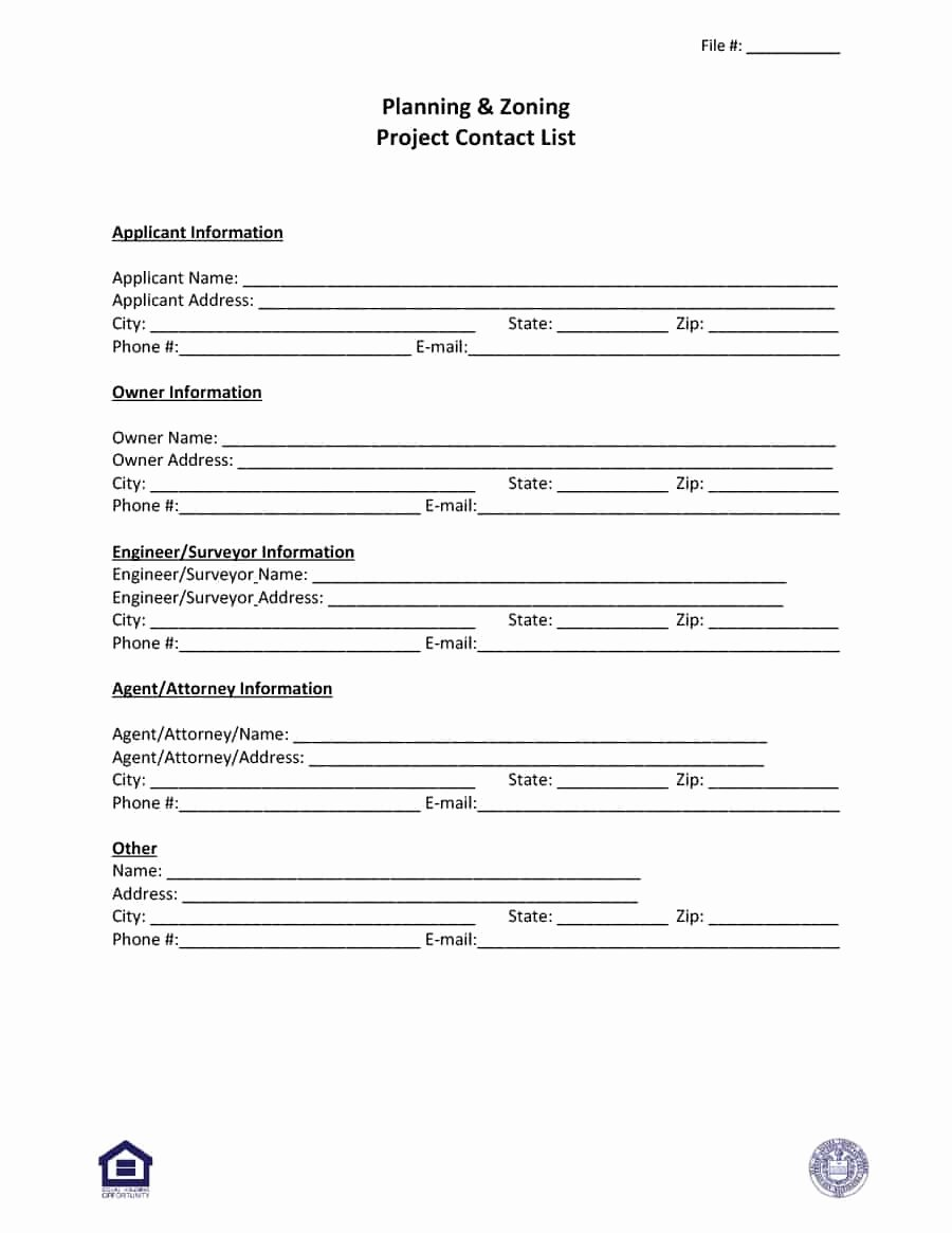 Contact form Template Word Beautiful 40 Phone & Email Contact List Templates [word Excel]