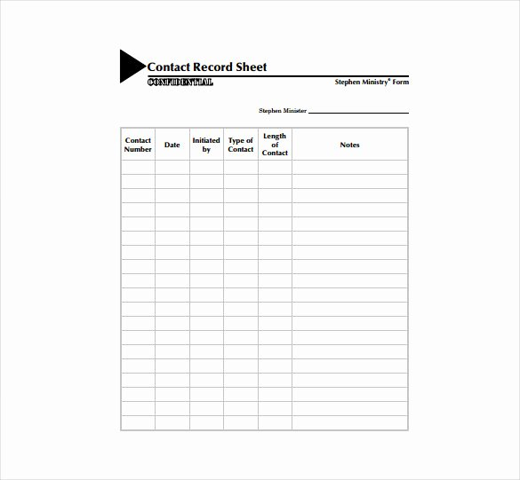 Contact form Template Word Best Of Contact Sheet Template 17 Free Excel Documents Download
