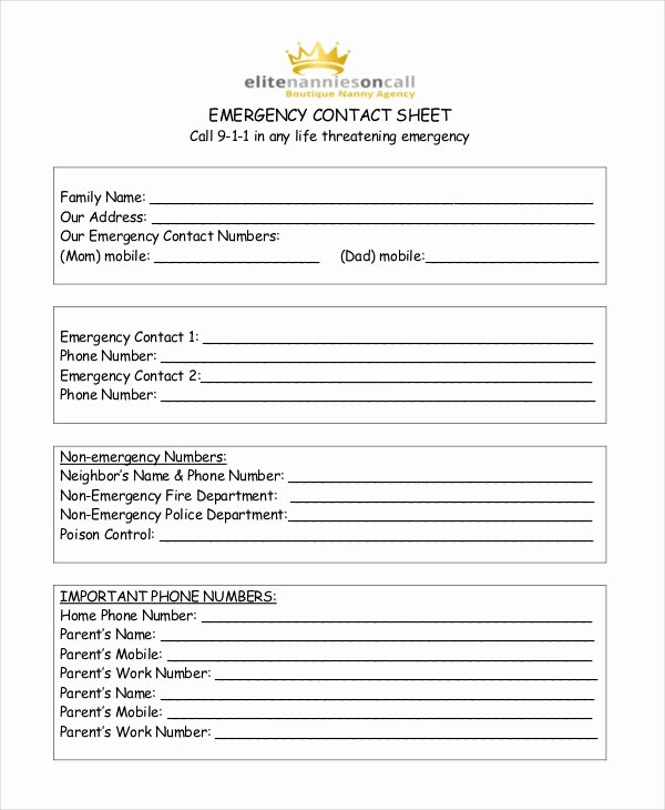 Contact form Template Word Elegant Free Contact List Template 10 Free Word Pdf Documents
