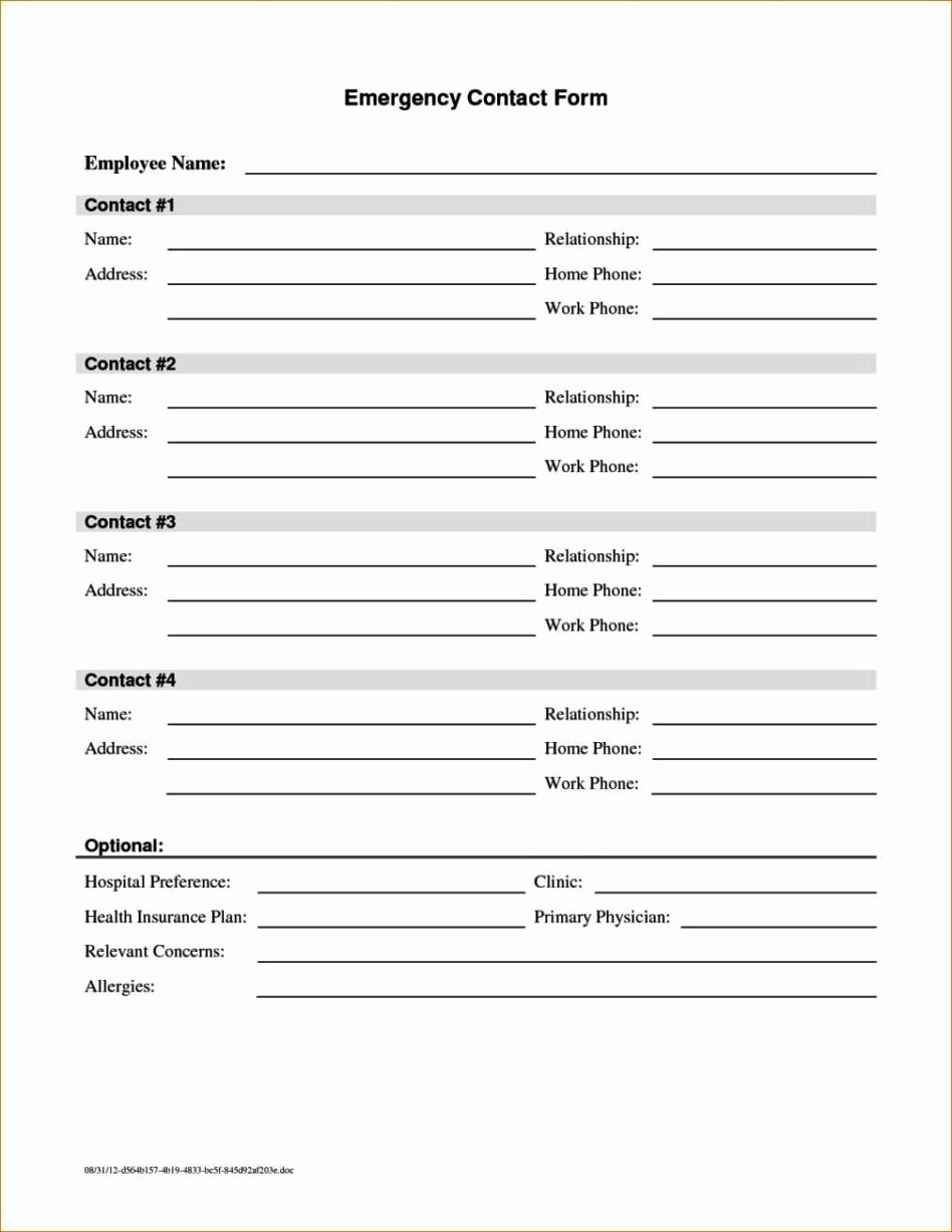 Contact form Template Word Inspirational Contact form Template Word Sampletemplatess