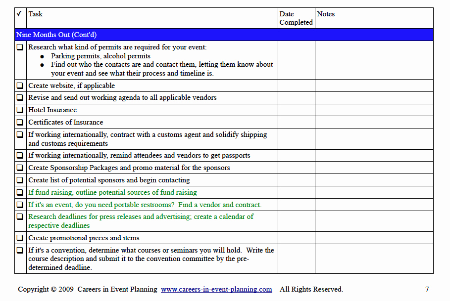 Corporate event Planning Checklist Template Awesome event Planning Checklist