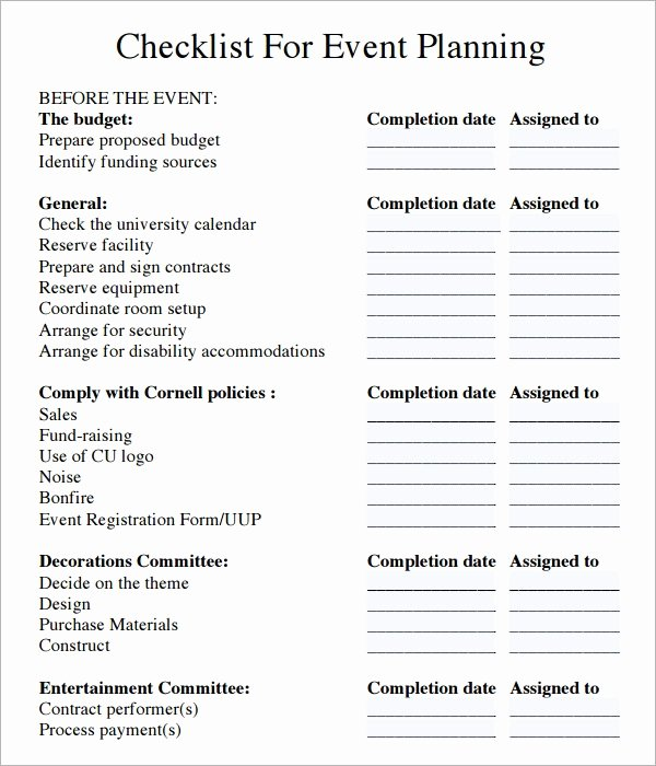 Corporate event Planning Checklist Template Beautiful Corporate event Planning Checklist Template Anthony