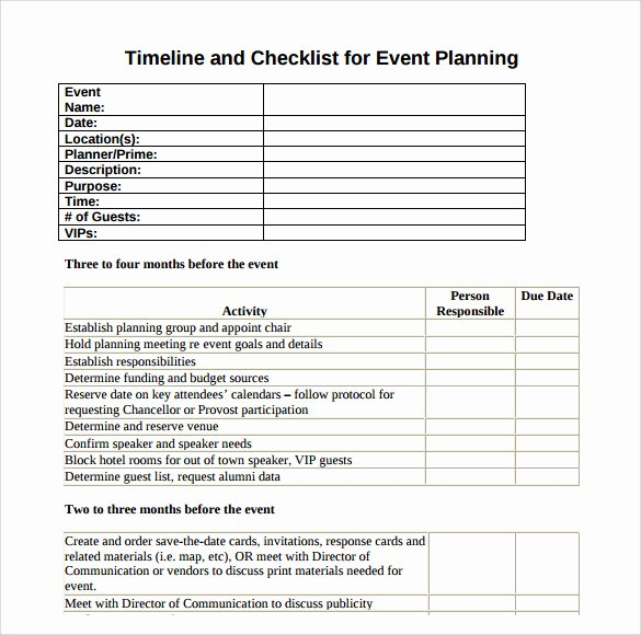 Corporate event Planning Checklist Template Best Of Free 8 event Timeline Templates In Pdf
