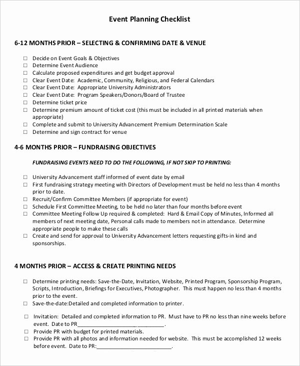 Corporate event Planning Checklist Template Lovely event Planning Checklist 16 Free Word Pdf Documents