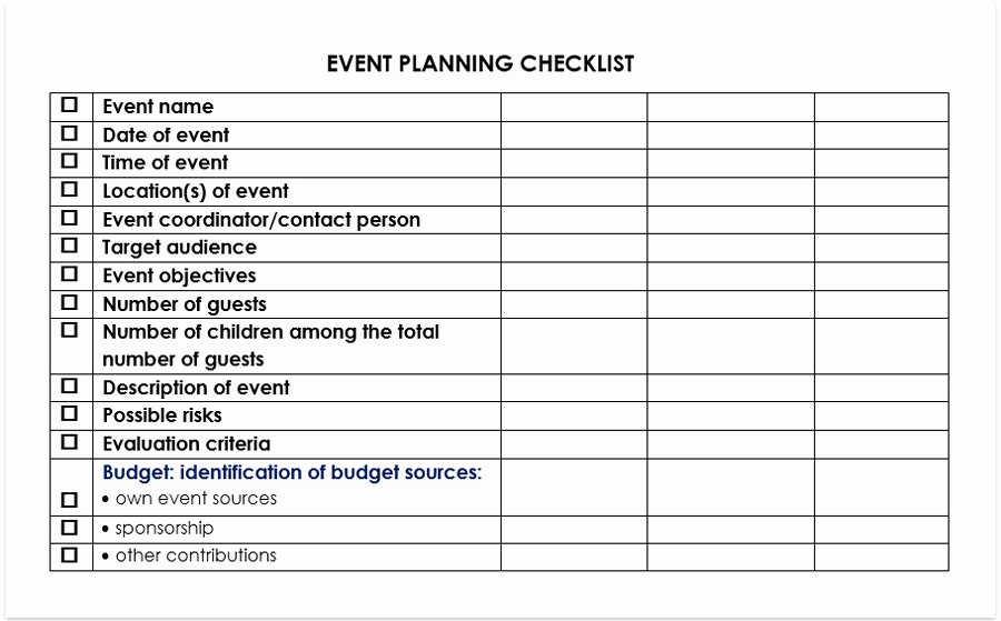Corporate event Planning Checklist Template Unique event Planning Checklist Free Pdf or Doc for Word