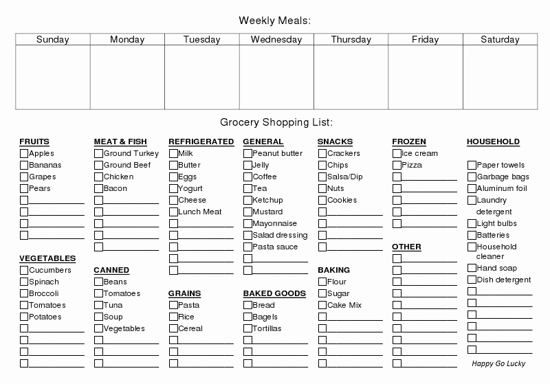Create A Meal Plan Template Awesome Weekly Meal Planner and Grocery List Free Printable