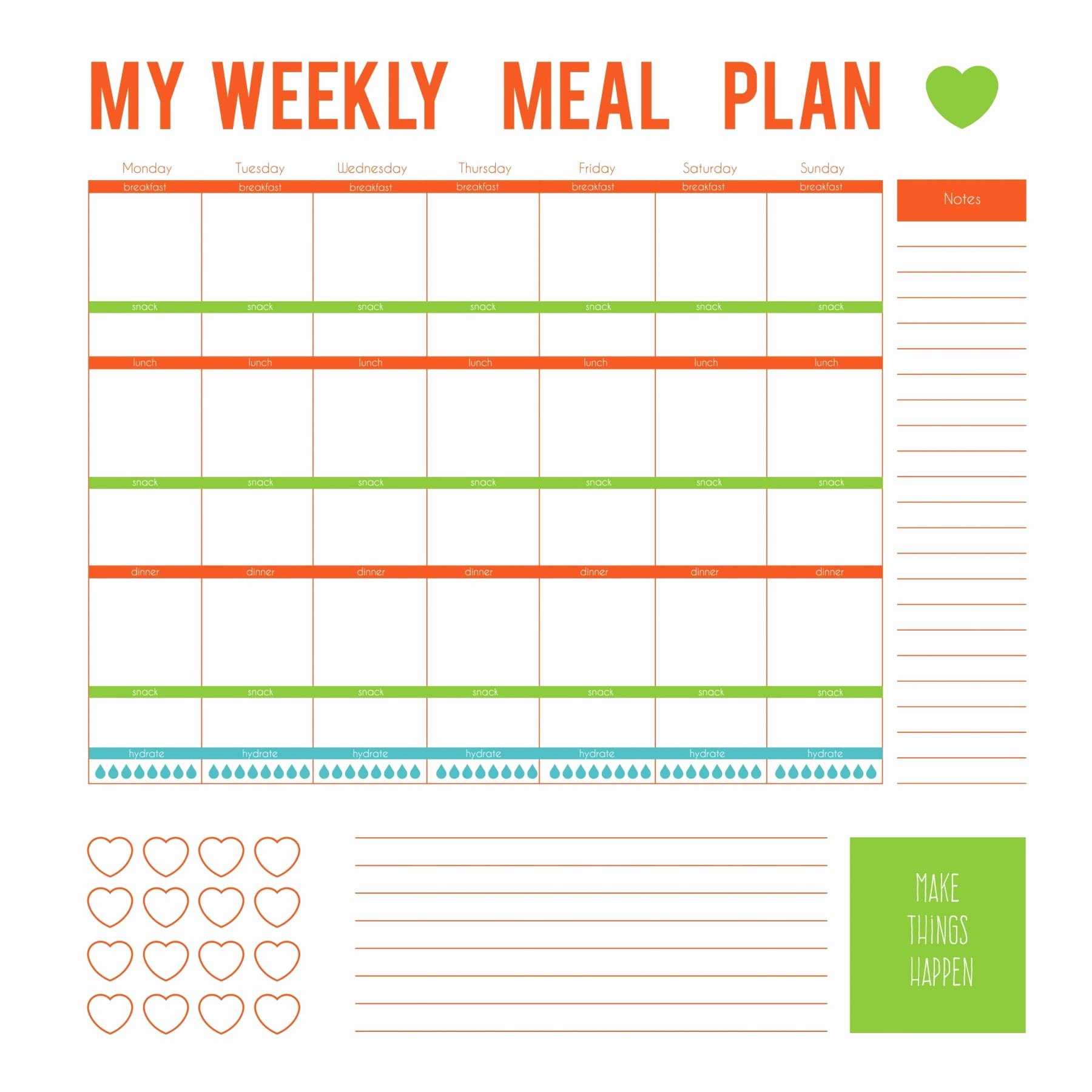 Create A Meal Plan Template Beautiful 3 Simple Ways to Make Eating Healthy Easier