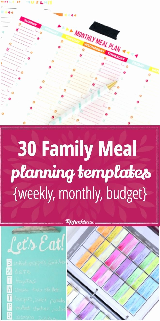 Create A Meal Plan Template Beautiful 30 Meal Planning Templates that Will Make Dinner Time