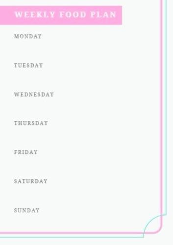 Create A Meal Plan Template Best Of Meal Planning Template Create Your Own Meal Planner