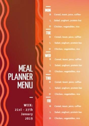 Create A Meal Plan Template Inspirational Meal Planning Template Create Your Own Meal Planner