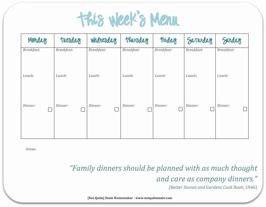 Create A Meal Plan Template Luxury Free Printable Weekly Meal Planner Not Quite Susie