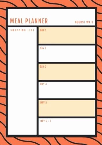 Create A Meal Plan Template Luxury Meal Planning Template Create Your Own Meal Planner