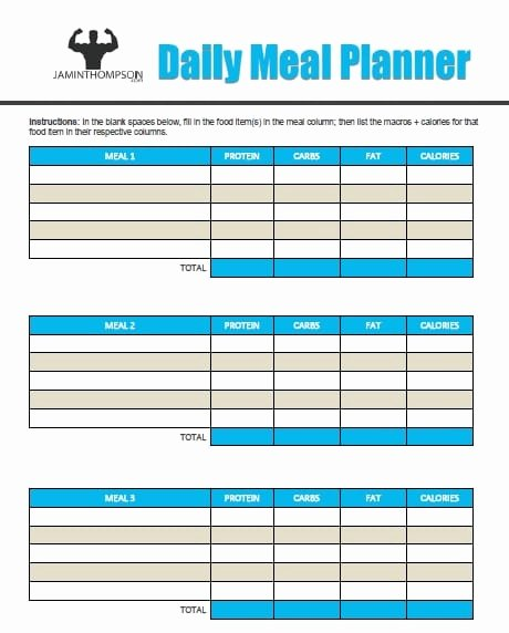 Create A Meal Plan Template New How to Create A Meal Plan Like A Pro Free Printable Meal