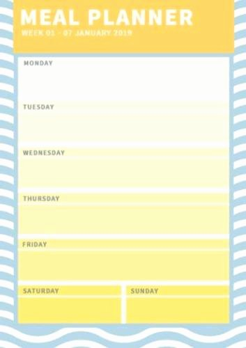Create A Meal Plan Template New Meal Planning Template Create Your Own Meal Planner