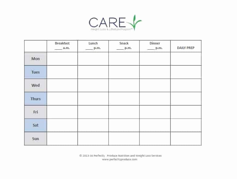 Create A Meal Plan Template New why Meal Planning Make and Pare Your Own List Plus