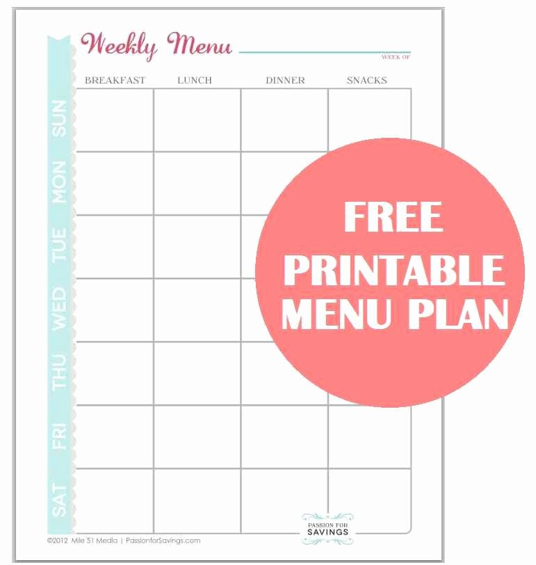Create A Meal Plan Template Unique A Great Way to Save Money is to Create A Menu Plan Here
