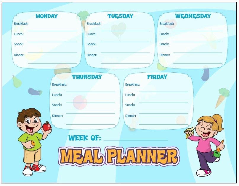 Create A Meal Plan Template Unique Make Your Own Meal Plans with Our Meal Planning Chart