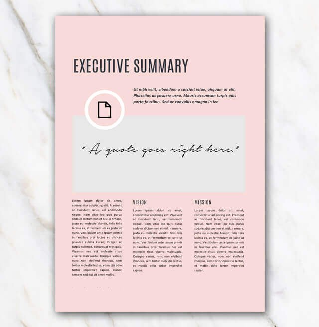 Creative Business Plan Template Beautiful Business Plan Template Pink & Stylish In Word for Free