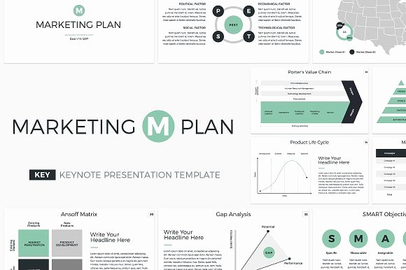 Creative Business Plan Template Elegant Marketing Plan Keynote Template Presentation Templates