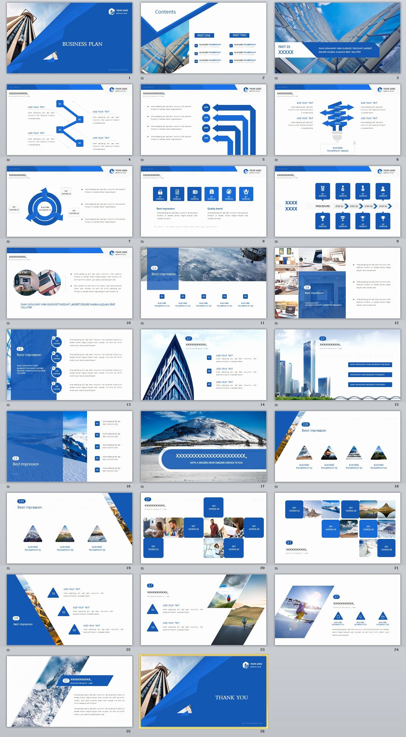 Creative Business Plan Template Luxury 26 Blue Creative Business Plan Powerpoint Template