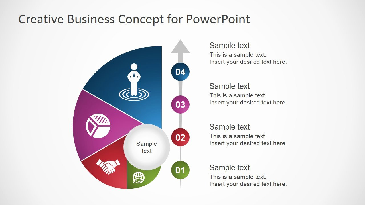 Creative Business Plan Template New Creative Business Concept for Powerpoint Slidemodel