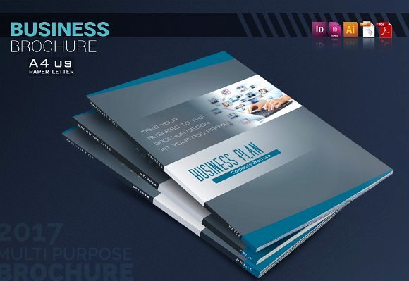Creative Business Plan Template Unique the Business Plan Brochure Templates Creative Market
