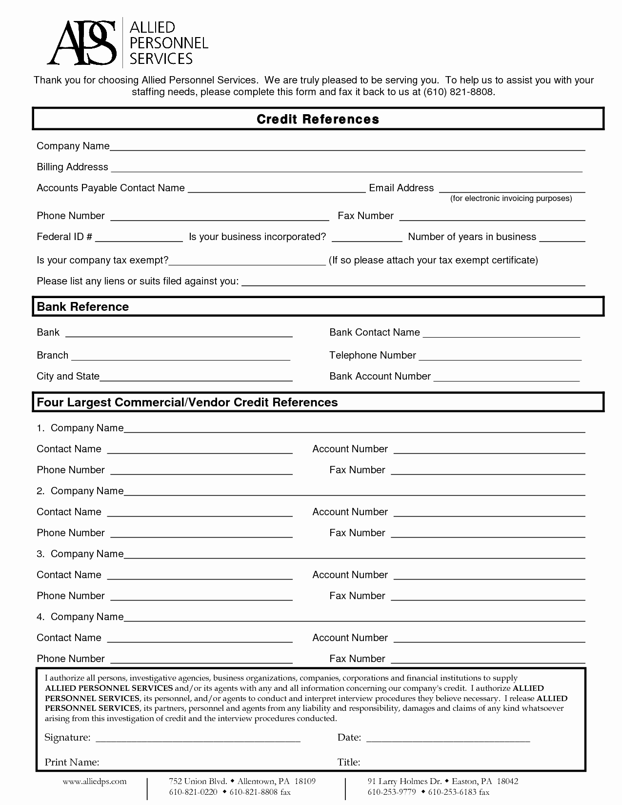 Credit Reference form Template Awesome Business Credit Reference Template Free Printable Documents