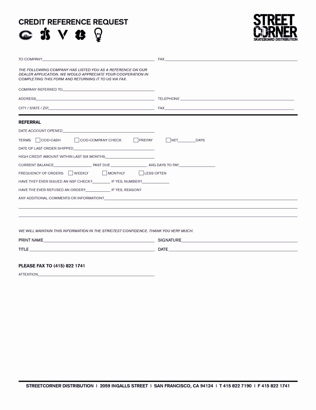 Credit Reference form Template Best Of Credit Reference Request form Template Template