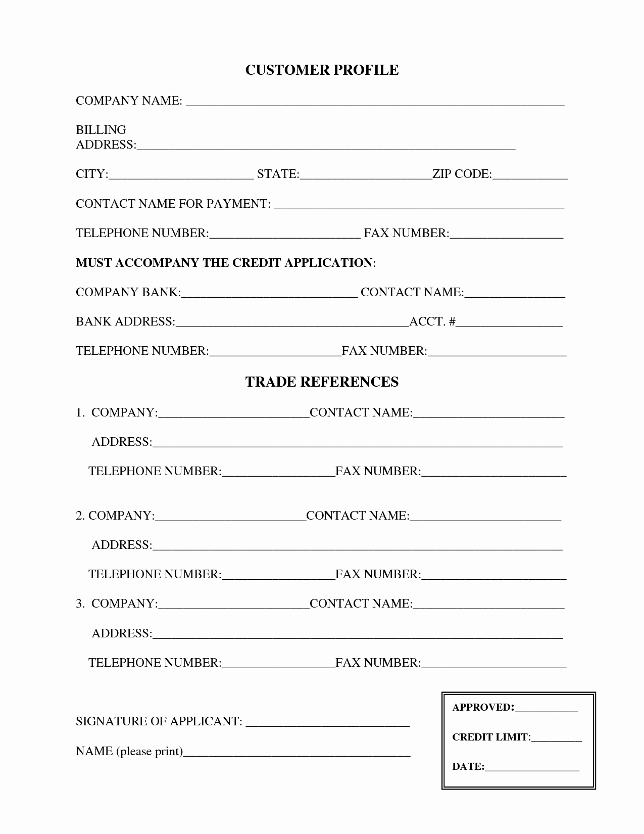 Credit Reference form Template Fresh 28 Of Blank Credit Reference Template