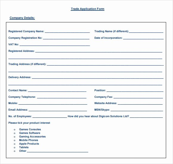 Credit Reference form Template Fresh 6 Sample Trade Reference Templates Pdf