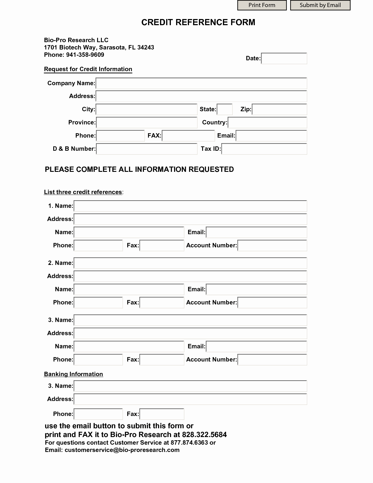 Credit Reference form Template Fresh Business Credit Reference form