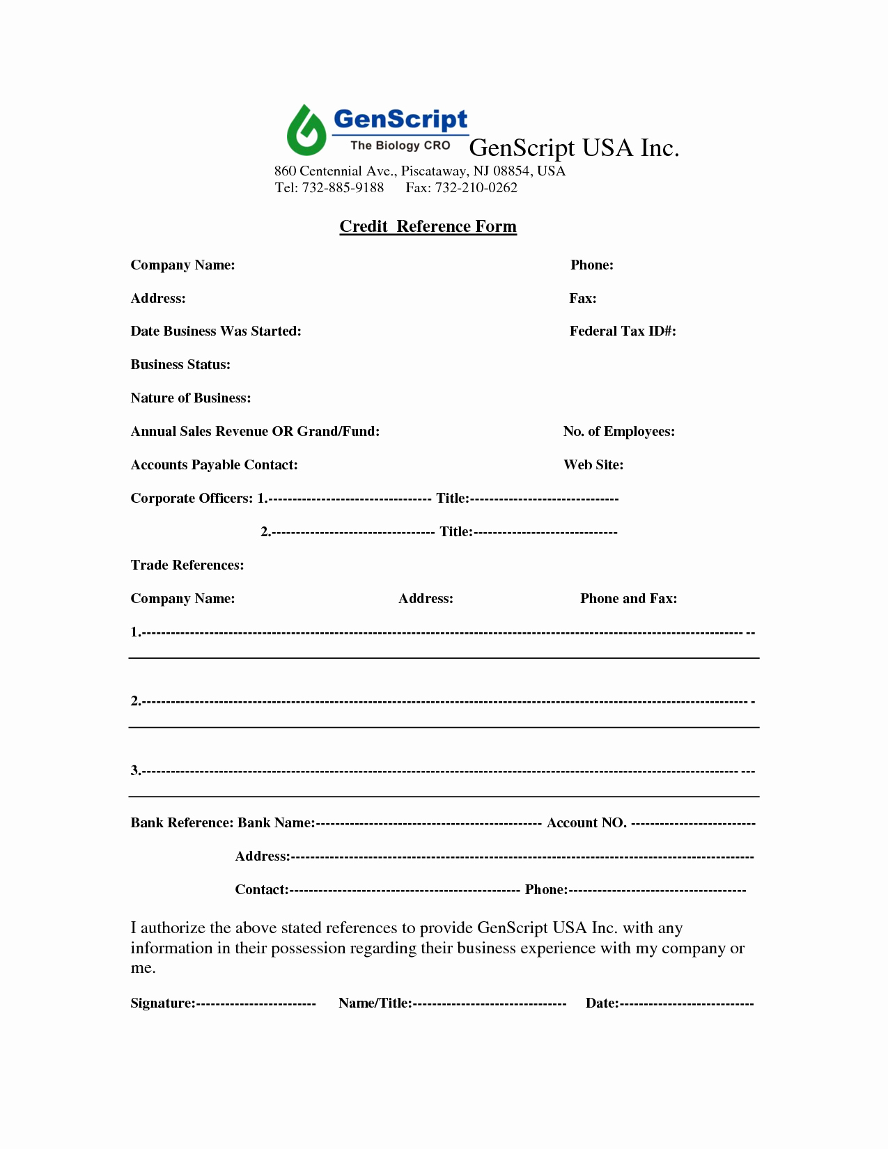 Credit Reference form Template Luxury Business Credit Reference form Free Printable Documents