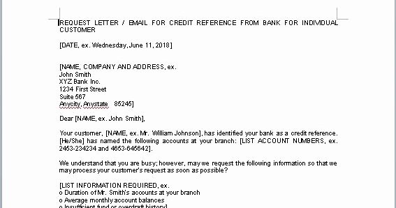 Credit Reference form Template Unique Credit Reference form Template In Word