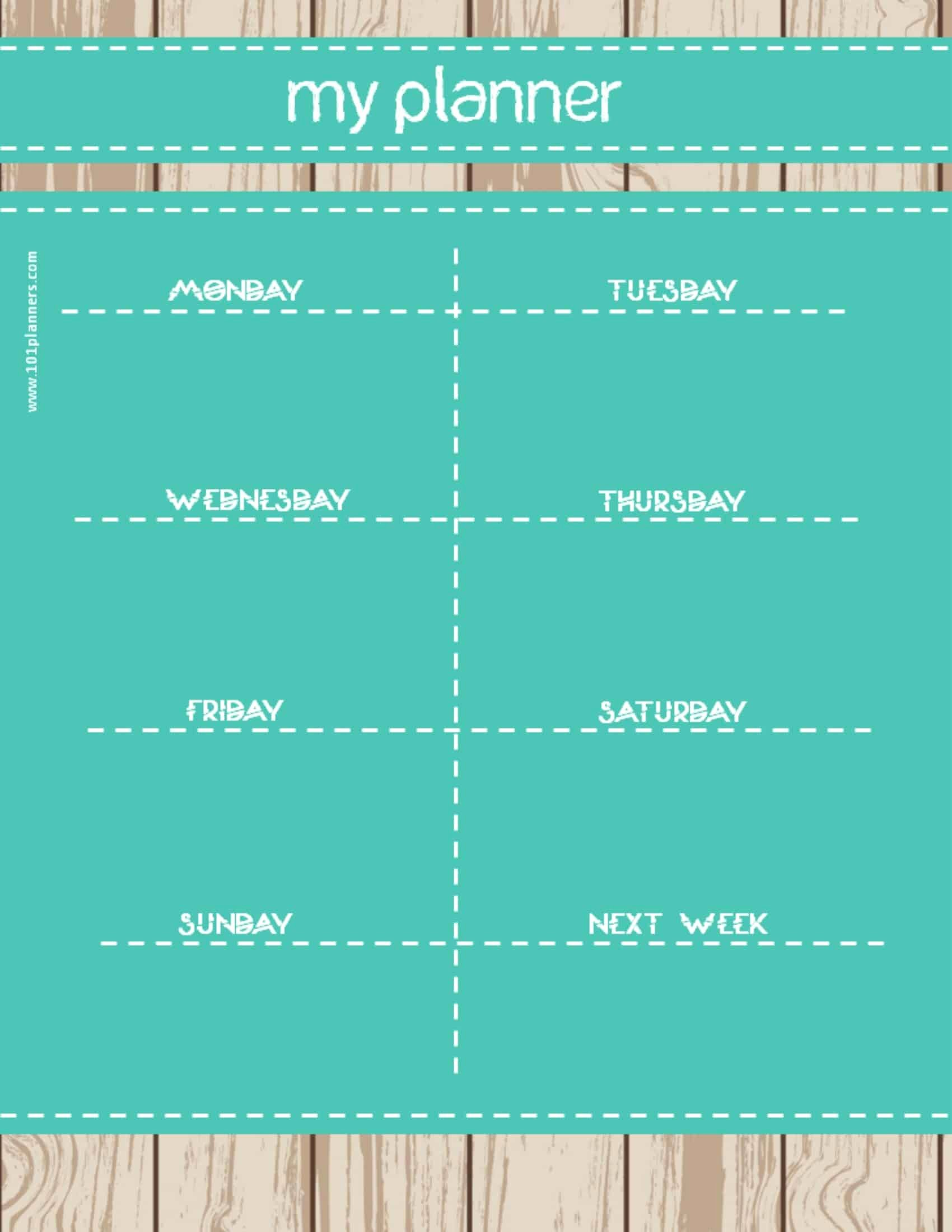 Custom Day Planner Template New Weekly Calendar Maker