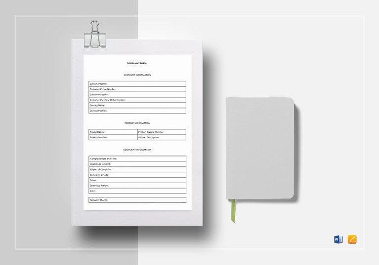Customer Complaint form Template Unique Free 4 Customer Plaint forms In Pdf