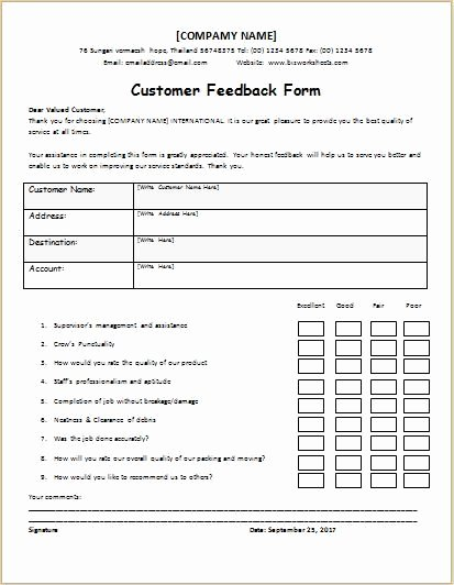 Customer Feedback form Template Lovely 1647 Best Daily Microsoft Templates Images On Pinterest