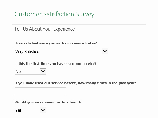 Customer Feedback form Template New Surveys Fice