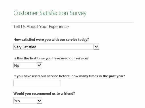 Customer Feedback form Template New Surveys Fice