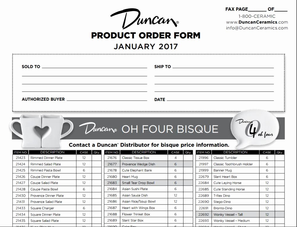 Customer order form Template Lovely Products order form Template