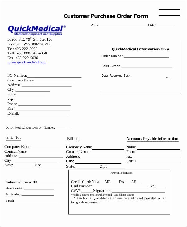 Customer order form Template Luxury 27 Of Physician order Template Set