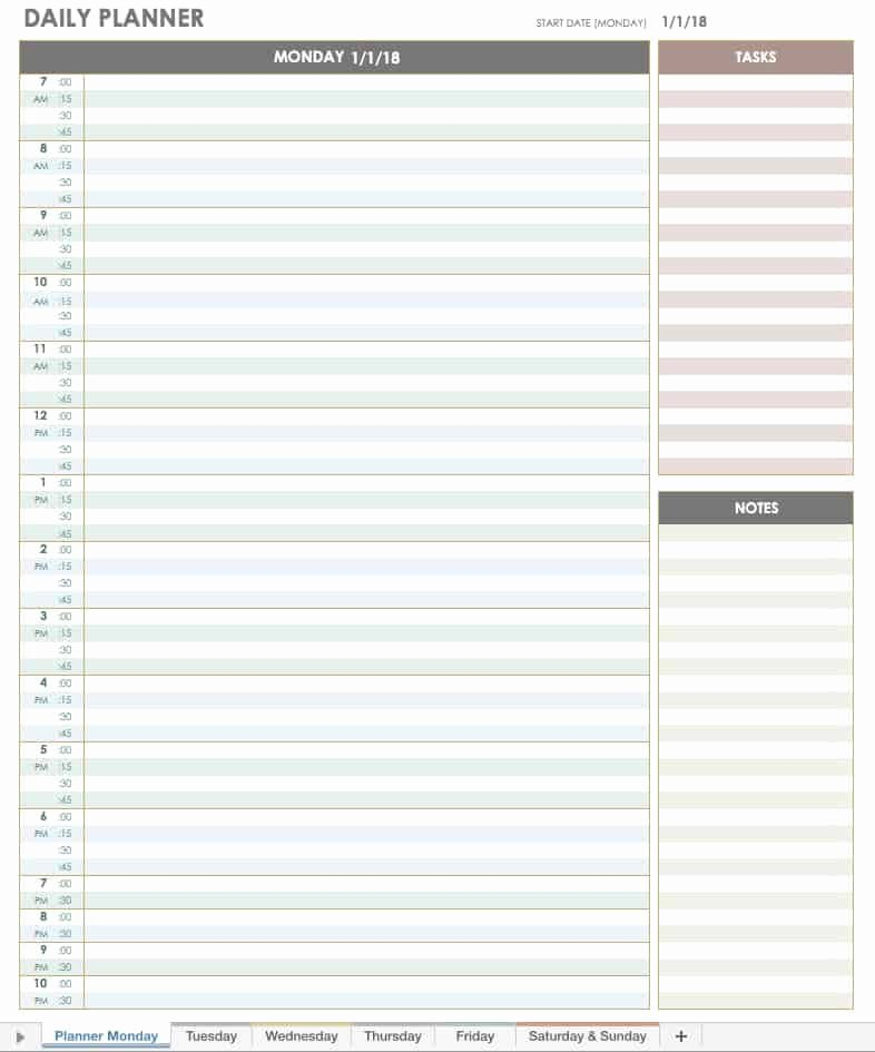 Daily Appointment Schedule Template Beautiful Free Excel Calendar Templates