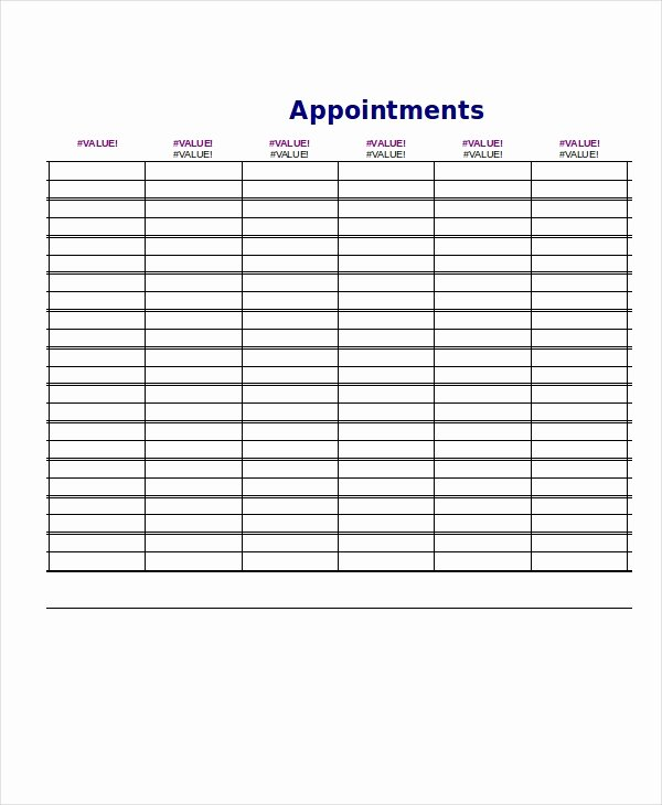 Daily Appointment Schedule Template Best Of Daily Schedule Template 9 Free Word Pdf Documents