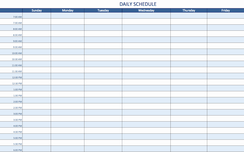 Daily Appointment Schedule Template Lovely Free Excel Schedule Templates for Schedule Makers