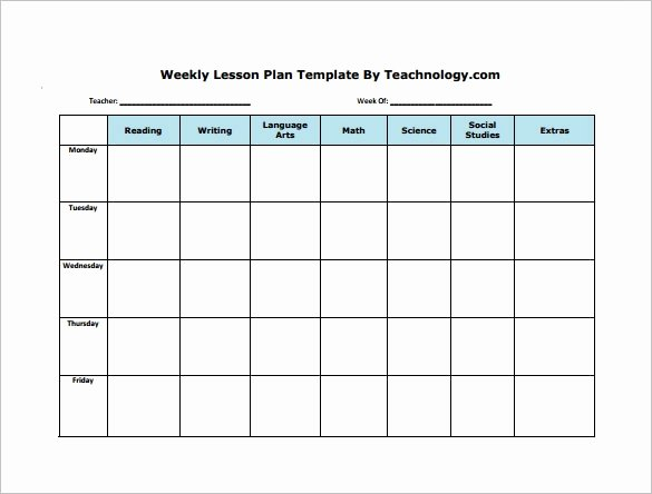 Daily Lesson Plan Template Word Beautiful Weekly Lesson Plan Template Word