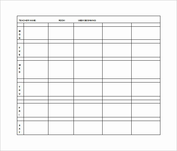 Daily Lesson Plan Template Word Inspirational Elementary Lesson Plan Template 11 Free Word Excel
