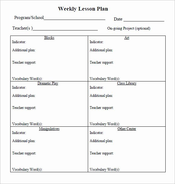 Daily Lesson Plan Template Word Luxury Free 8 Weekly Lesson Plan Samples In Google Docs