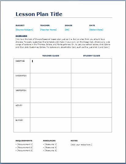 Daily Lesson Plan Template Word New Teacher Daily Lesson Planner Template